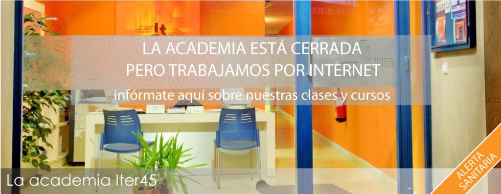 Academia cerrada, clases y cursos por internet